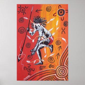 Fire Dancer Poster by Mundara