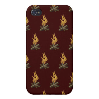 Fire Dark Red Cover For iPhone 4