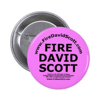 Fire David Scott 6 Cm Round Badge