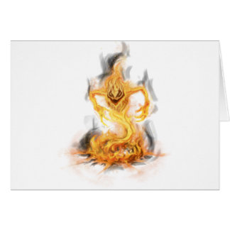 Fire Demon Greeting Cards