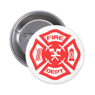 Fire Department 6 Cm Round Badge