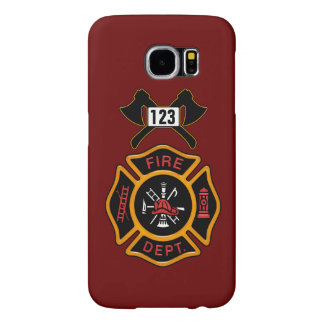 Fire Department Badge Samsung Galaxy S6 Cases