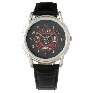 Fire Department Badge Wrist Watch