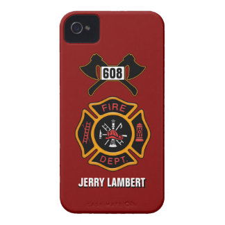 Fire Department Badge Name Template iPhone 4 Cases