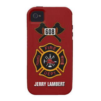 Fire Department Badge Name Template Case-Mate iPhone 4 Cases