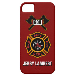 Fire Department Badge Name Template iPhone 5 Case
