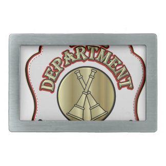 Fire Department Battalion Chief Shield Design Rectangular Belt Buckles