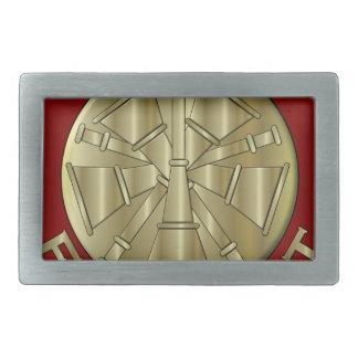 Fire Department Chief Brass Symbol Belt Buckle