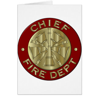 Fire Department Chief Brass Symbol Card