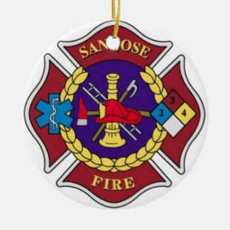 Fire Department Christmas Ornament