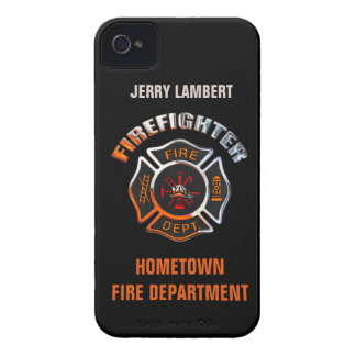 Fire Department Chrome Name Template iPhone 4 Case-Mate Cases