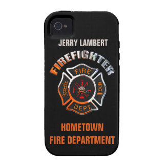 Fire Department Chrome Name Template iPhone 4/4S Case