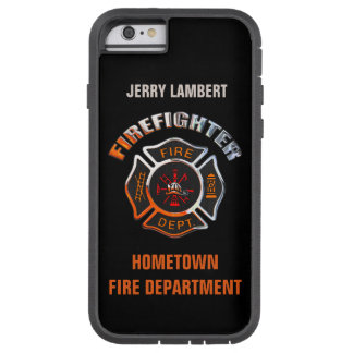 Fire Department Chrome Name Template Tough Xtreme iPhone 6 Case