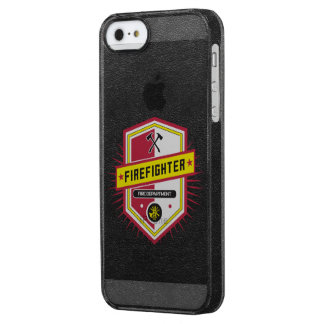 Fire Department Crest Clear iPhone SE/5/5s Case