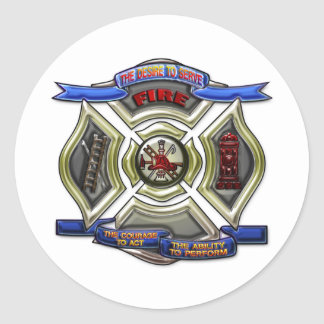 Fire Department Crest Round Sticker