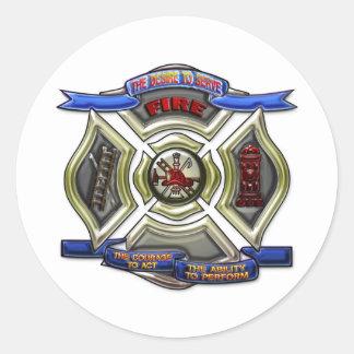 Fire Department Crest Round Sticker
