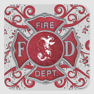 Fire Department Stickers | Zazzle AU