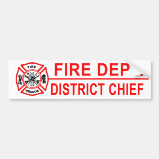 Fire Department District Chief Bumper Sticker