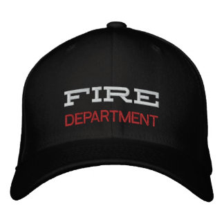 FIRE, DEPARTMENT EMBROIDERED HAT