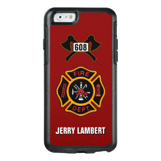 Fire Department Firefighter Badge Name Template OtterBox iPhone 6/6s Case