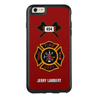 Fire Department Firefighter Badge Name Template OtterBox iPhone 6/6s Plus Case