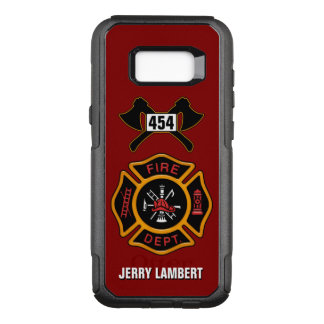 Fire Department Firefighter Emblem Name Template OtterBox Commuter Samsung Galaxy S8+ Case