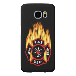 Fire Department Flaming Badge Samsung Galaxy S6 Cases
