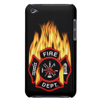 Fire Department Flaming Badge iPod Touch Cases