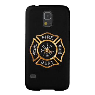 Fire Department  Gold Badge Galaxy S5 Covers