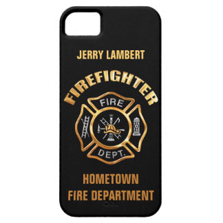 Fire Department Gold Name Template Barely There iPhone 5 Case