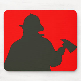 fire department mouse pad