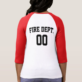 FIRE DEPARTMENT RAGLAN TSHIRT