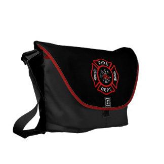 Fire Department Red Commuter Bag