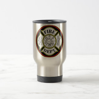 Fire Department Round Badge Mugs