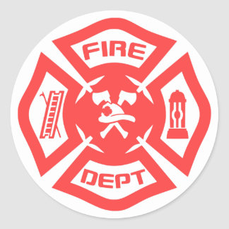 Fire Department Round Sticker