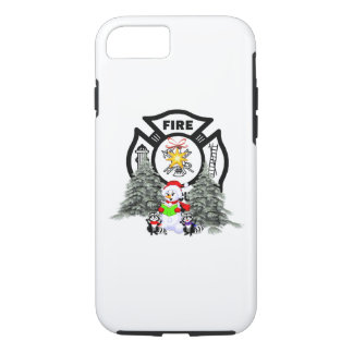 Fire Dept Christmas Scene iPhone 8/7 Case