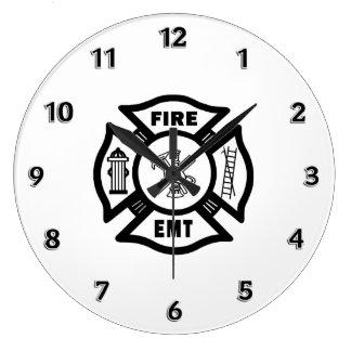 Fire Dept EMT Large Clock