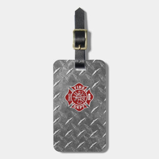 Fire Dept / Firefighter Maltese Cross Luggage Tag
