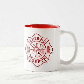 Fire Dept / Firefighter Maltese Cross Mug
