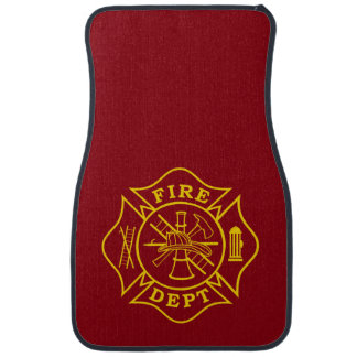 Fire Dept Maltese Cross Car Mats (Front-set of 2)