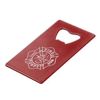 Fire Dept Maltese Cross Credit Card Bottle Opener