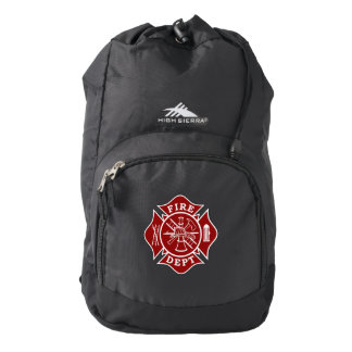 Fire Dept Maltese Cross High Sierra Backpack, Blac Backpack