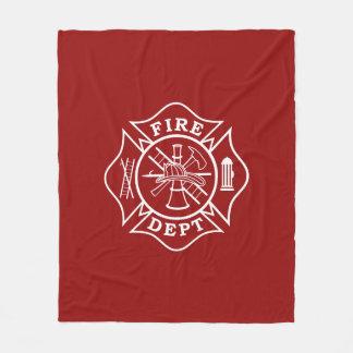Fire Dept Maltese Cross Medium Fleece Blanket