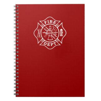 Fire Dept Maltese Cross Note Pad Notebooks
