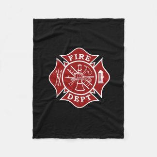 Fire Dept Maltese Cross Small Fleece Blanket