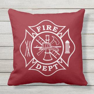 """Fire Dept Maltese Cross Throw Pillow - 20"""" x 20"""""""