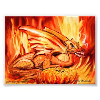Fire dragon and egg photo print