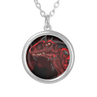 Fire Dragon (Dark Version) Silver Plated Necklace