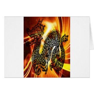 Fire dragon.jpg greeting card