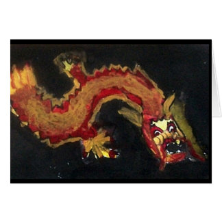 fire dragon notecard note card